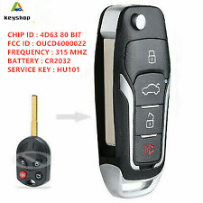 Upgraded FLIP KEY REMOTE FOR 2012-2018 FORD FOCUS CHIP KEYLESS ENTRY ALARM FOB