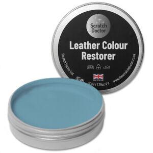 50ml LIGHT BLUE Leather Colour Restorer For Faded/Worn Leather Shoe Handbag Sofa