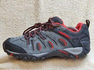 Merrell Crosslander Ladies walking trainers Suede Grey/Red UK 6.5 EUR 40 US 9