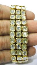 Fabulous! Vintage antique enamel work Solid 20K Gold diamond Bracelet bangle