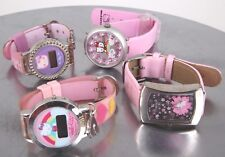 FOR PARTS & OR REPAIR LOT OF 4 SANRIO PINK HELLO KITTY WATCHES 6495