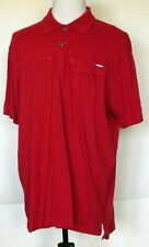 Marc Ecko Cut & Sew Red Screen Printed Graphics S/S Polo Shirt XXL