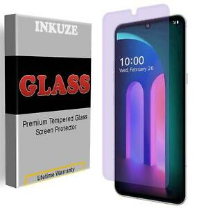 Anti Blue Light Full Cover Tempered Glass Screen Protector For LG V60 ThinQ