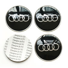 4x 65MM 2.56'' Auto Car Wheel Center Hub Cap Emblem Badge Decal Sticker for Audi