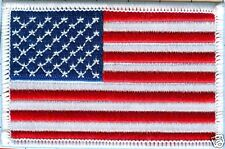 """American Flag  Patch-Star Field Left, White Border 3 1/2"""" X 2 1/4"""" Sew-on only"""