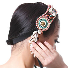 Lady Boho Indian Feather Headband Hippie Hairband Tribal Hair Rope Headpiece