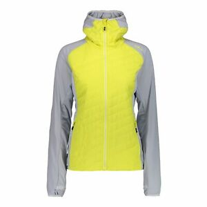 CMP Functional Jacket Woman Jacket Fix Hood Yellow Windproof Water Resistant