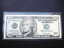 $10 1999 BB FEDERAL RESERVE NOTE CHOICE UNC BU NOTE
