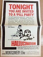 HALLUCINATION GENERATION 1966 Uncut Movie Pressbook