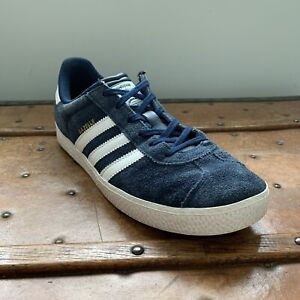 ADIDAS GAZELLE 2 Shoes Sneakers Big Kids Size 6.5 Navy/White Suede B24620