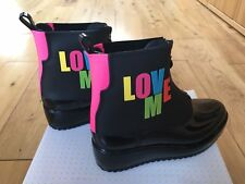 Lemon Jelly Ankle Boots Black Wellies size 38