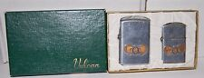 2 Vintage VULCAN Military Lighters in Box - Desert Rock Nevada 50th CMI Plat SVC