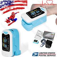 Newest US Finger Fingertip Blood Oxygen Meter SPO2 OLED Pulse Heart Rate Monitor