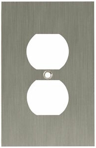 64930 Brushed Nickel Concave Single Duplex Cover Wall Plate