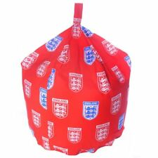 Cotton Red White England Crest Football Seat Chair Bean Bag With Filling