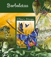 Sao Tome & Principe 2016 MNH Butterflies Butterfly 1v S/S Insects Stamps