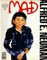 1988 (March) Mad Magazine #277, Alfred E, Neuman as Michael Jackson ~ Very Good