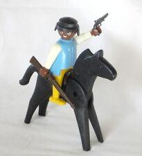 PLAYMOBIL WESTERN - bandit et cheval - playmobil vintage 3748