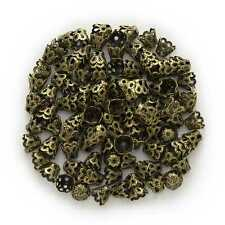 150 Piece Bronze Tone Basket Shaped Beads Caps Jewelry Making Findings 6x5mm