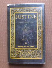 JUSTINE by Marquis de Sade - 1st Castle HCDJ 1964 - erotica sadism adult