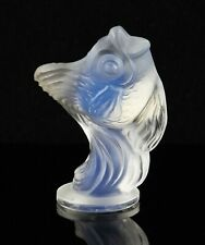 vintage Art Deco Sabino opalescent glass leaping fish figure, signed