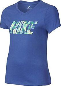 Nike Enfants Tea Palm T-shirt, chemise décontractée, bleu, S / 128-137