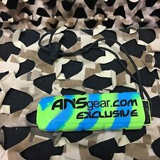 New Ans Exalt Bayonet Barrel Cover Ans-Gear Exclusive - Lime/Blue Swirl