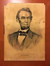 Abraham Lincoln The Nation's Martyr Currier & Ives 1865 Rare Medium Folio Print