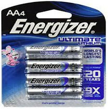40 AA Energizer Ultimate Lithium Batteries (4-PK)