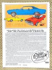 1968 1969 FORD FAIRLANE & TORINO - COBRA JET GT 428 CAR LITERATURE FACT SHEET 60