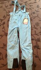 WOMENS Blue 14 SPYDER SNOW SKI BOARDING BIB PANTS LINED Waterproof Snowboard