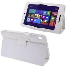 "COVER CUSTODIA IN PELLE PER TABLET 8,1"" ACER ICONIA TAB W3+PENNINO STAND BIANCO"