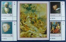 Grenada 1996 Gemälde Paintings Rubens Kunst Art 3139-42 + Block 418 MNH