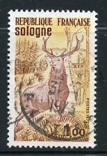 STAMP / TIMBRE FRANCE OBLITERE N° 1725 FAUNE / SOLOGNE / CERF