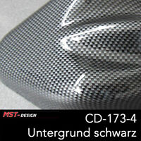 Wassertransferdruck Folie Film WTD WTP Starterset 4m Carbon CD-173-4 + Aktivator