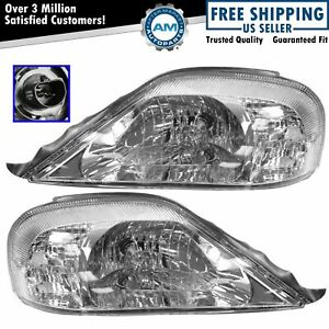 Headlights Headlamps Left & Right Pair Set NEW for 00-05 Mercury Sable