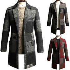 New Fashion Trendy Mens Wool Quilted Coat Jacket Jumper Blazer Outwear Top E064