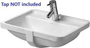 Duravit Starck 3 Undercounter Vanity Washbasin 1 Tap Hole White Art 0302490000