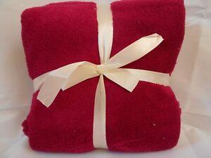 MAGENTA RUBY PINK MICROFIBER FLEECE THROW Blanket 50 x 60 ULTRA SOFT