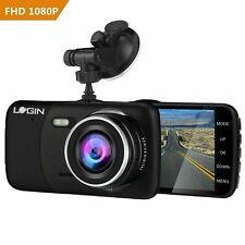 Dual Lens Front Rear Video Recorder HD Car DVR Dash Camera 1080p G-Sensor Black