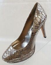 White House Black Market Snowflake Pumps Platform Silver Womens Shoes Size 9M