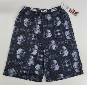 Star Wars Pajamas Shorts Black & White Size XL(14/16) Youth  NWT NEW