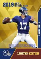 2019 DANIEL JONES #6 DRAFT PICK FIRST EVER MADE GOLD LIMITED EDITION RC GIANTS.