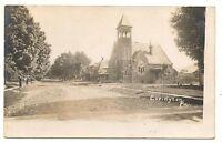 RPPC Church COVINGTON PA Vintage Tioga County Pennsylvania Real Photo Postcard