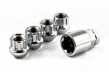 OPEN ENDED LOCKING WHEEL NUTS STEEL CHROME M12 x 1.5 fits FORD FOCUS ST RS