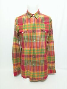Polo Ralph Lauren Multicolor Plaid Snap Long Sleeve Shirt Mens Size Large NWT