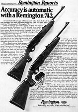 1977 Print Ad of Remington Reports Model 742 Woodmaster Rifle