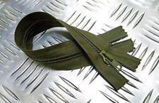 "Británico Militar ANF 8"" Cremallera Cerrada Verde cremallera/Cierre cremallera"