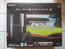 Console PS3 ED. PES 2008 40go HS POUR PIECES (RLOD) En Boite Avec Cables Manette
