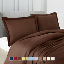Luxury Microfiber Solid Duvet Cover Set Lightweight 100%Microfiber Ultra Soft